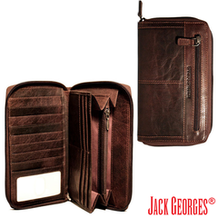 Spikes & Sparrow Zip Around Clutch Wallet | Jack Georges