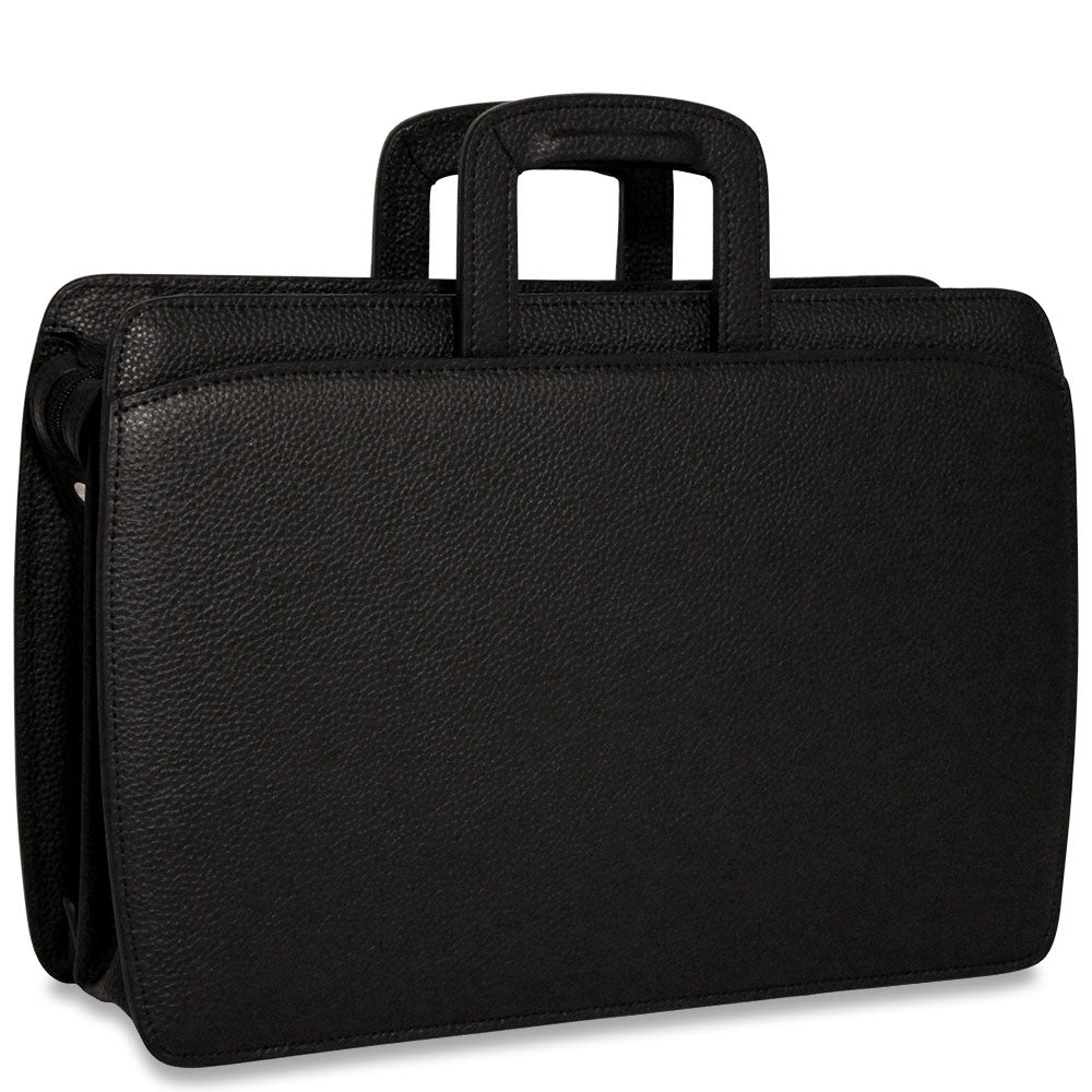 Jack Georges SOHO Collection Professional Briefcase #1202 Black Front Right Side