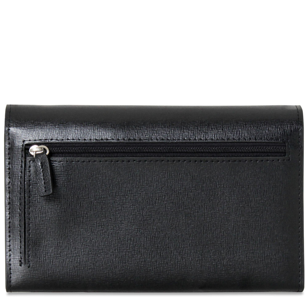Chelsea Clutch Bag #5678 Black Front Face