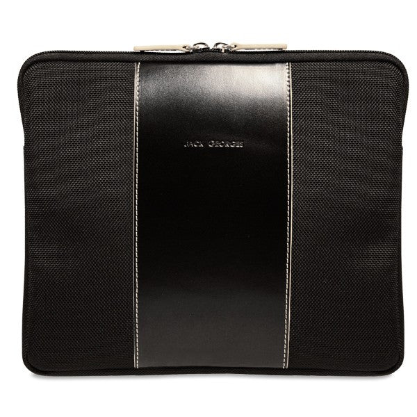 Generations Collection #6535 iPad/Tablet Sleeve Black-Cream Front Face