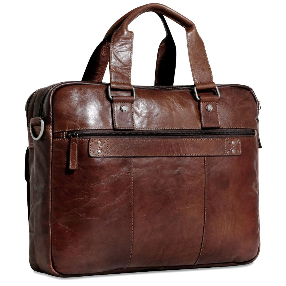 Voyager Large Zippered Briefcase w/Front Pockets #7337