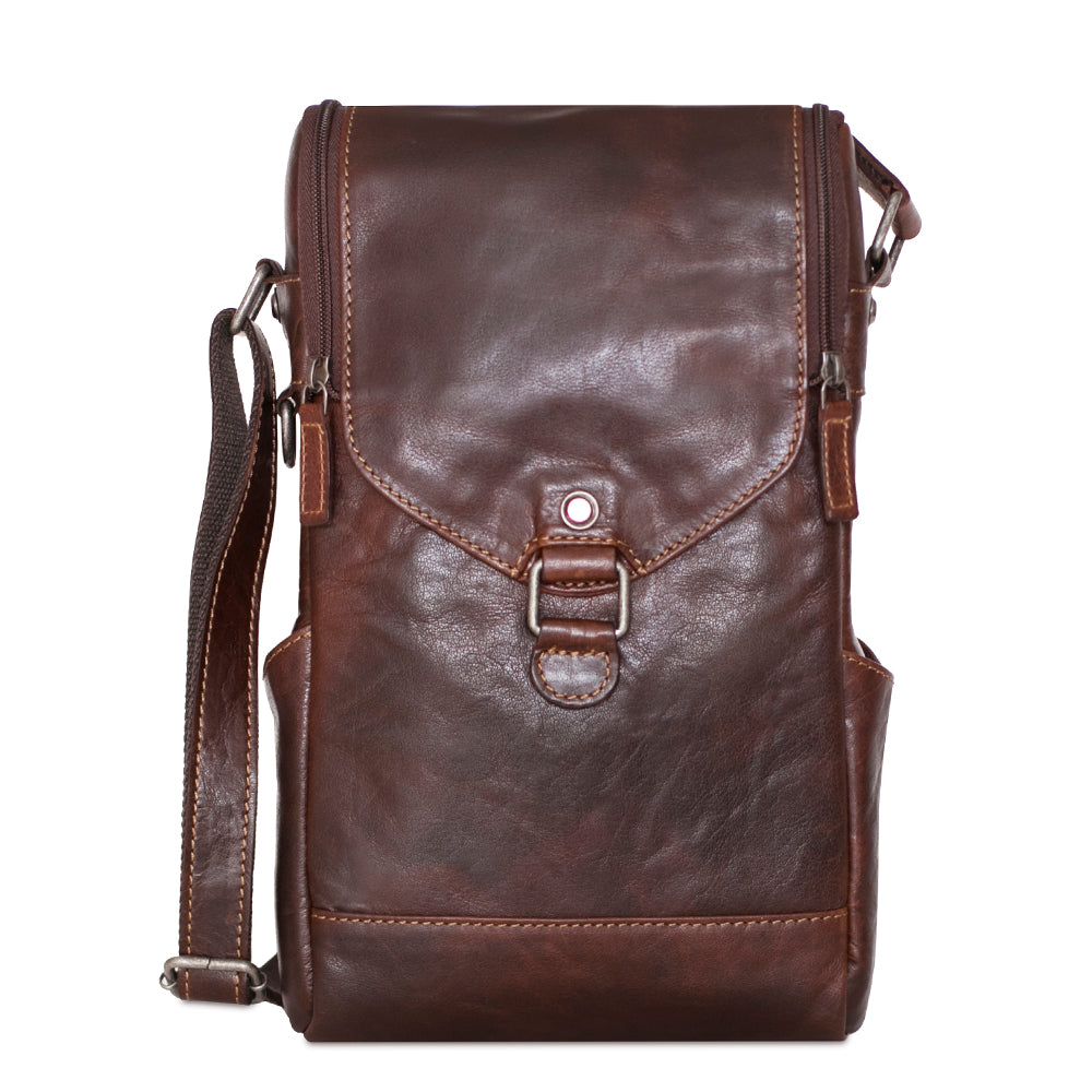 Voyager Crossbody Messenger & Wine Bag #7513