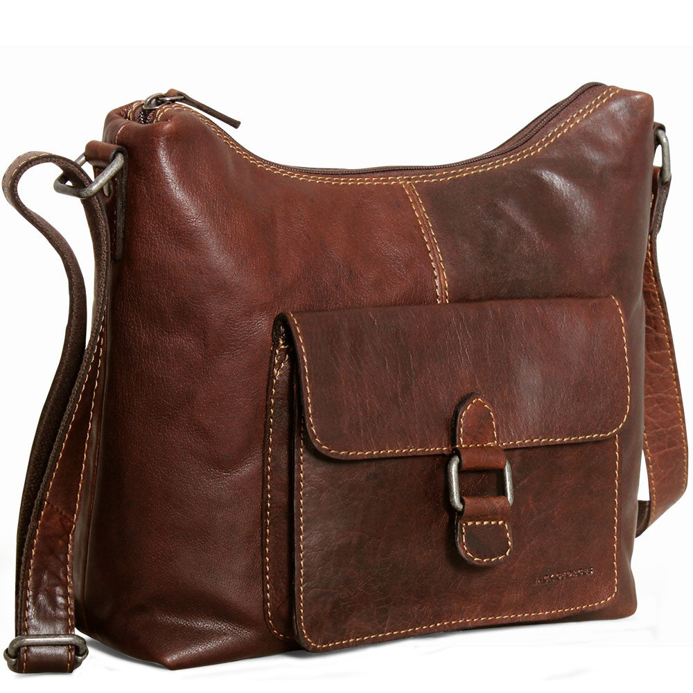 Voyager Flap Pocket Hobo Bag #7614