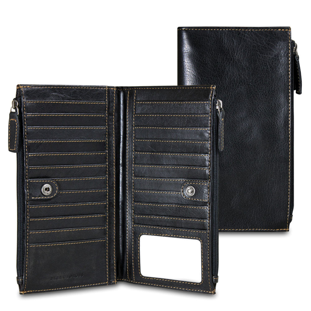 Voyager Large Zippered Wallet #7718