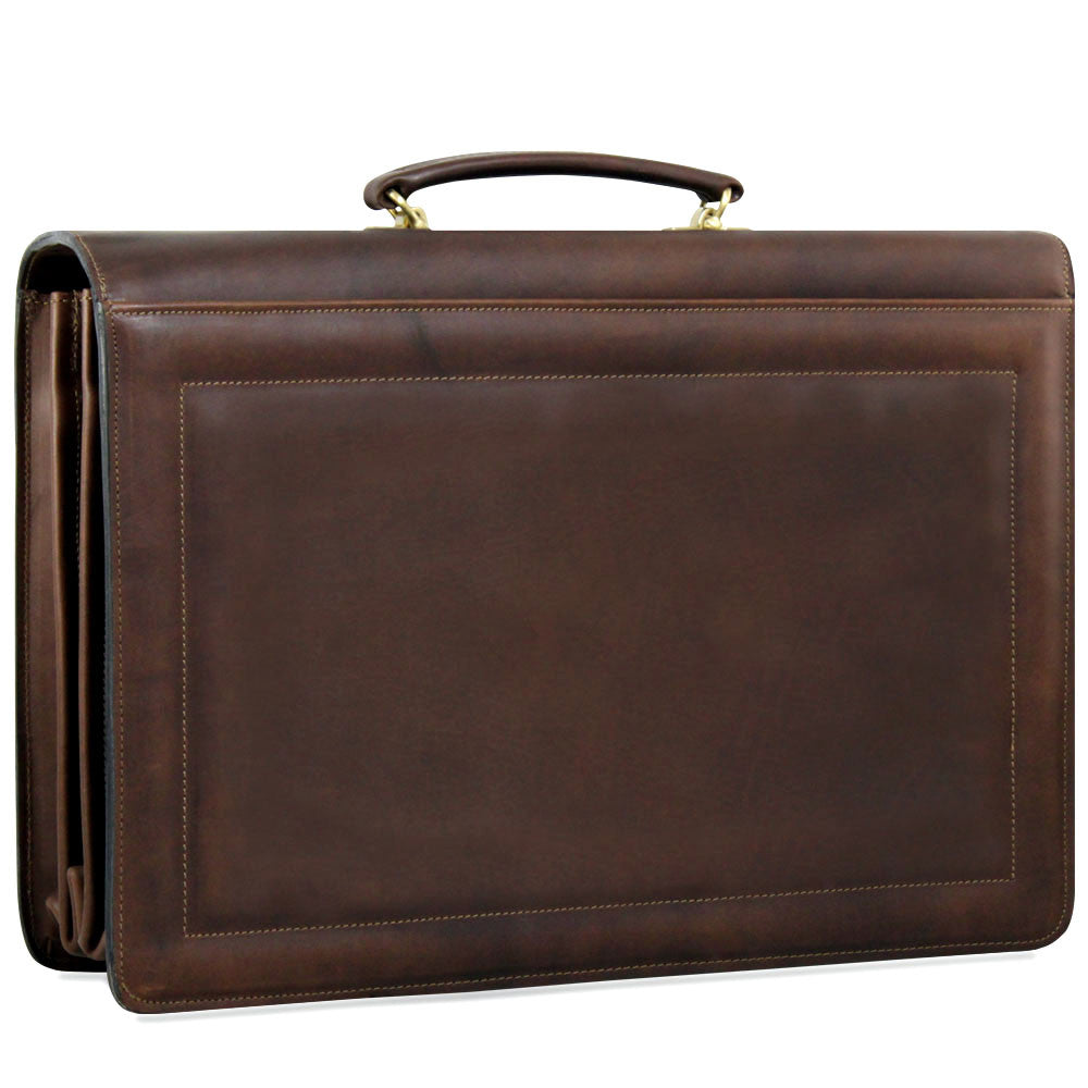 Belting Leather Executive Combination Lock Briefcase #9004