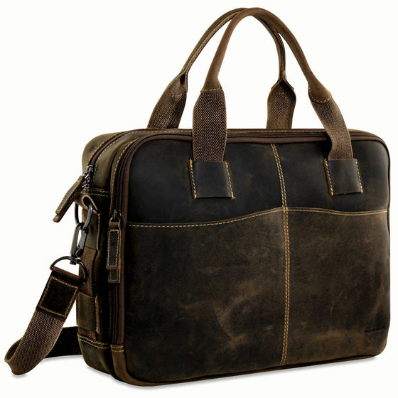 68f7a9b59b3d Top Zip Leather Briefcases - Jack Georges