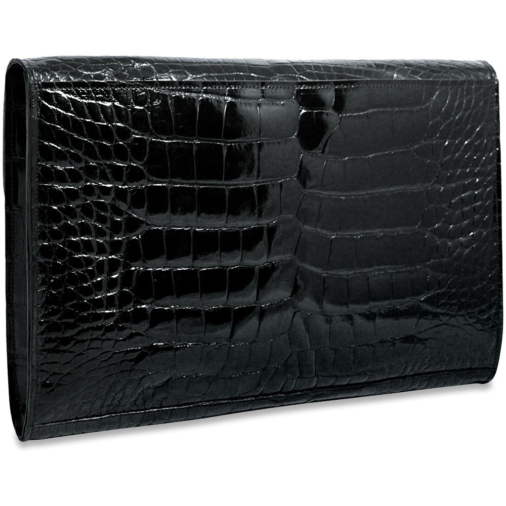 Jack Georges American Alligator Black Underarm Case #AL001 (Front Right Side)