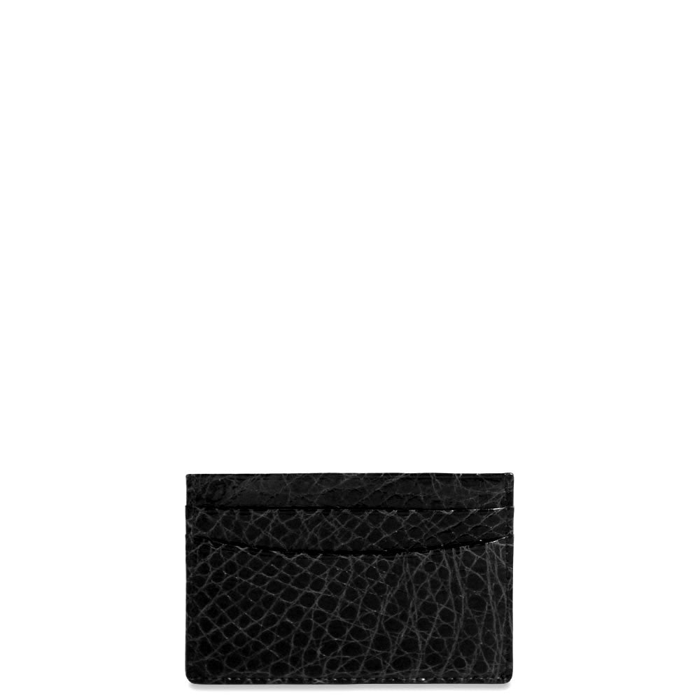 Jack Georges American Alligator Black Evening Wallet #AL708 (Front)