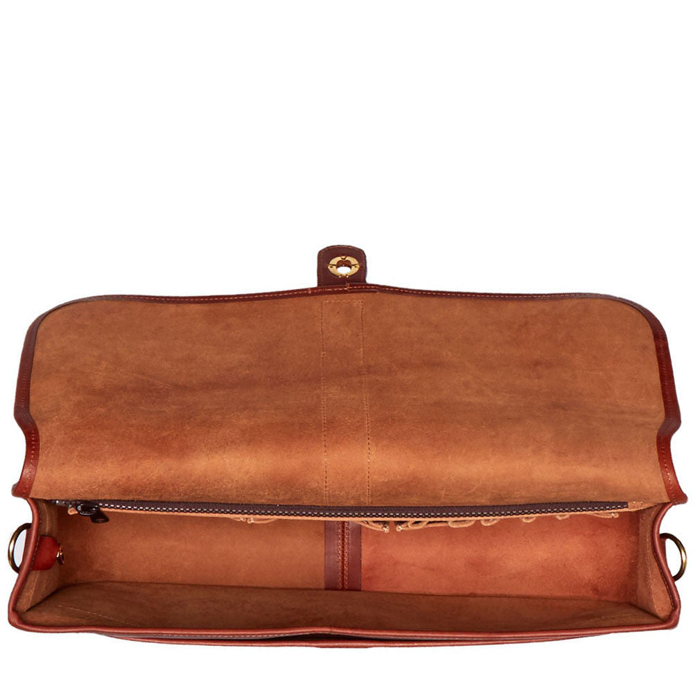 Belmont Leather Messenger Bag #B2525