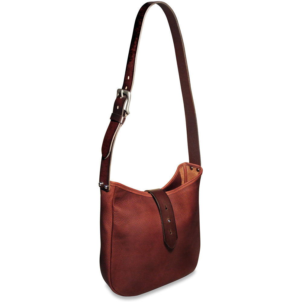 Belmont Open Top Hobo Bag #B2633 Cognac Front Side