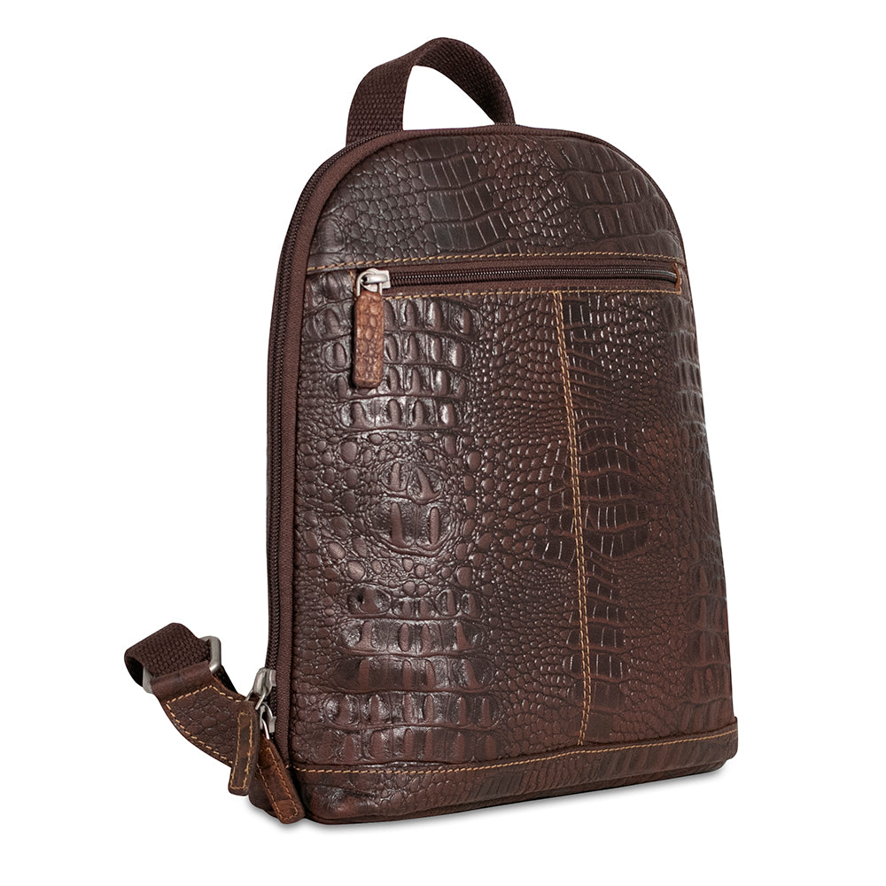Hornback Croco Small Convertible Backpack/Crossbody #HB133