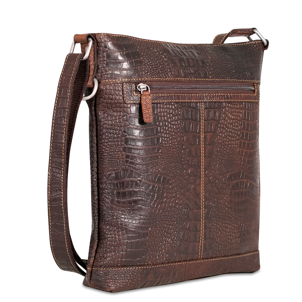 Hornback Croco Crossbody Bag #HB312