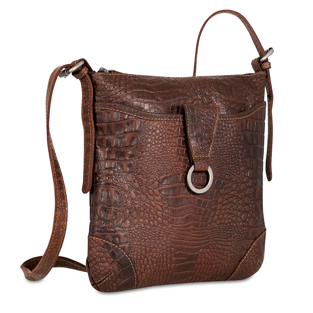 Hornback Croco Collection Serena Crossbody Bag #HB622