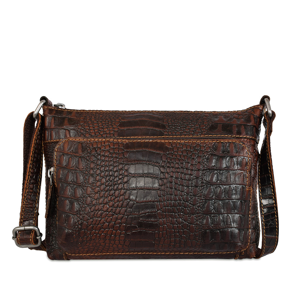 Hornback Croco Mini City Crossbody #HB810