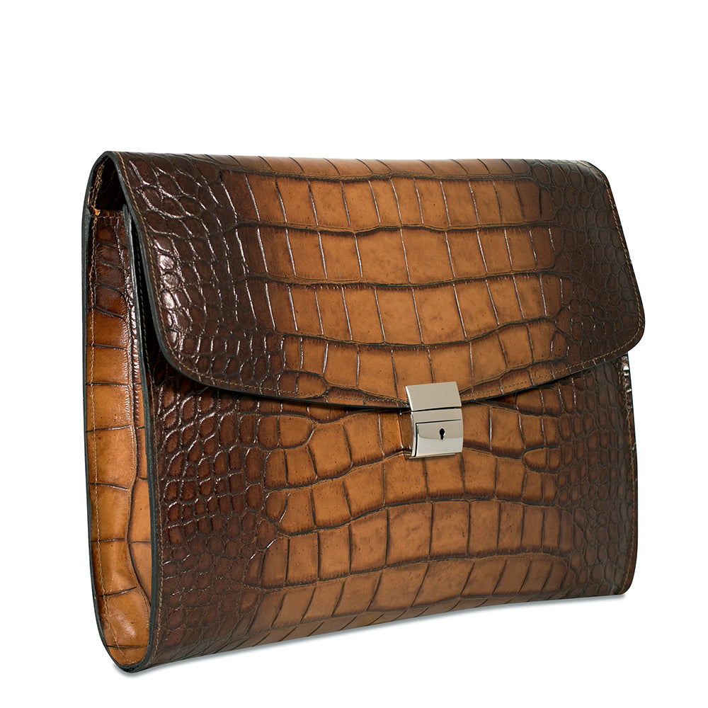 Hand Brushed Croco Leather Underarm Case #K001