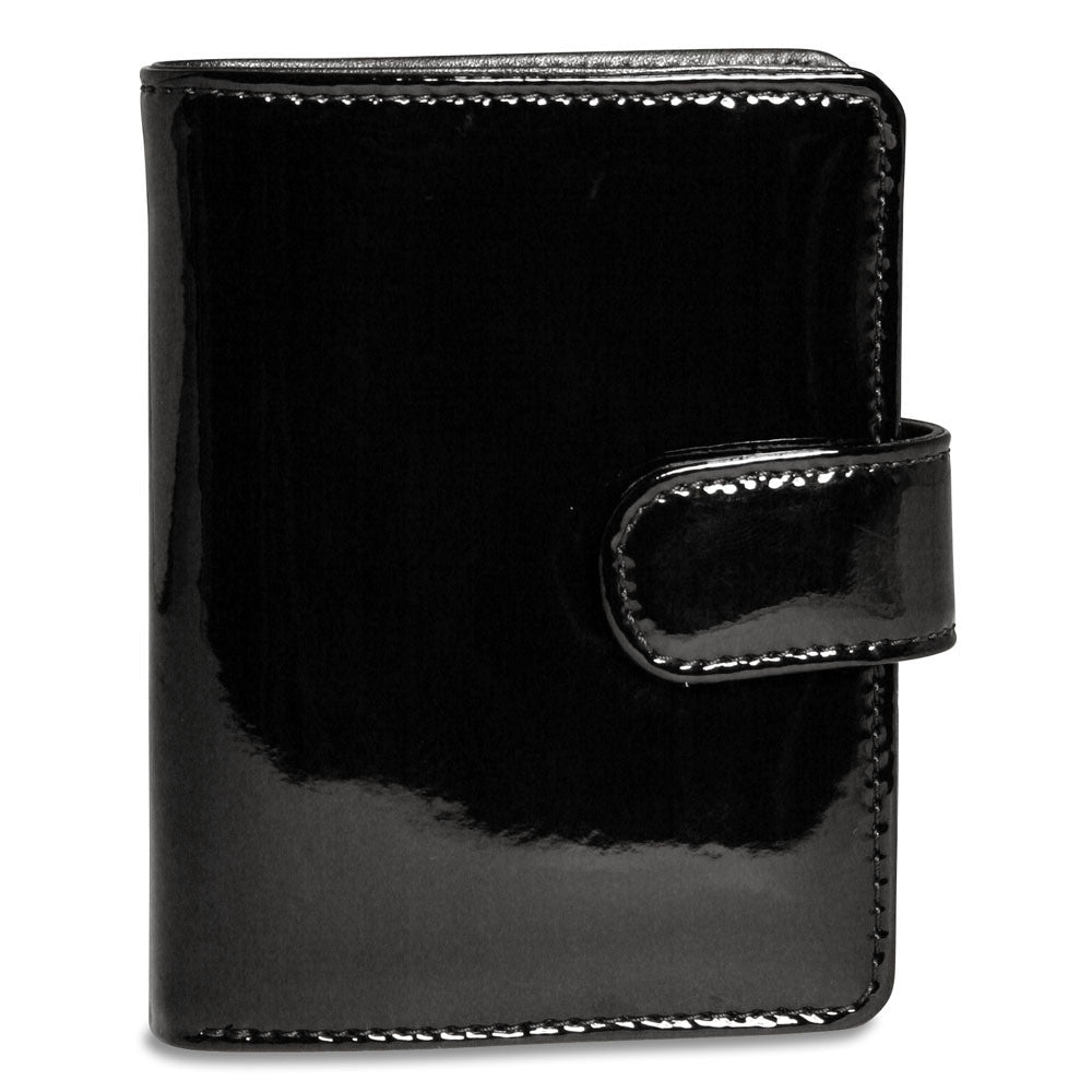Jack Georges Patent Tri-fold/French Purse #P3713 Black Display