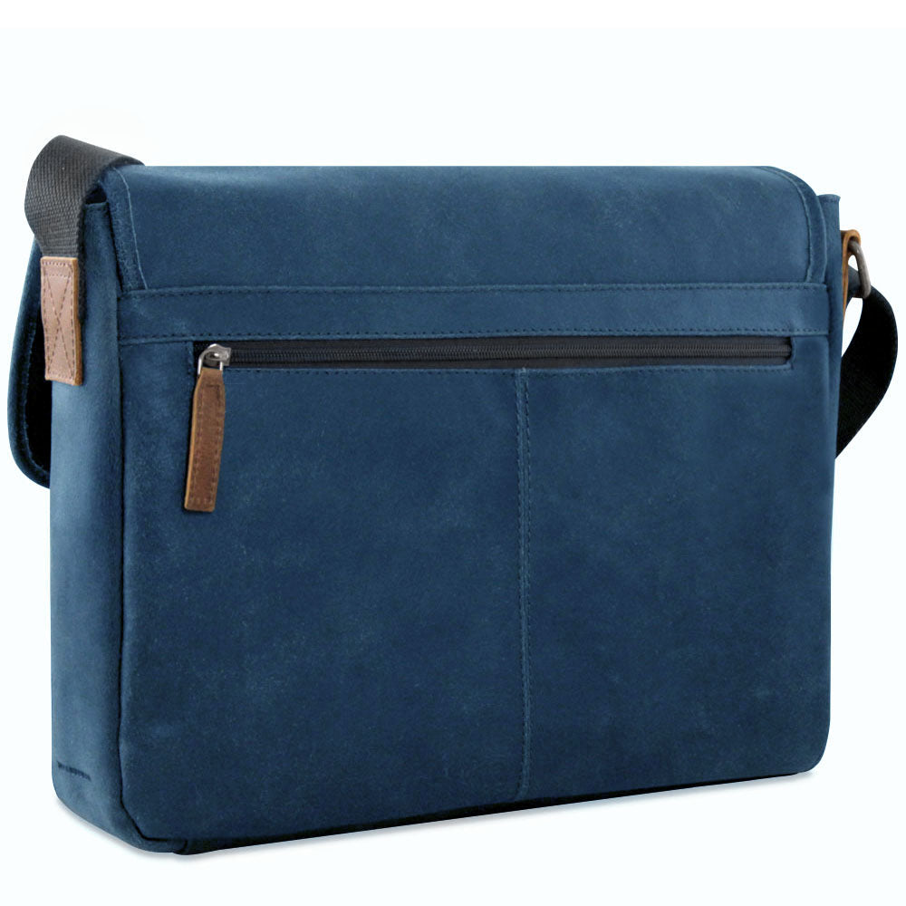 Jack Georges Dakota Navy Messenger Bag #RS456 (Front Right Side)