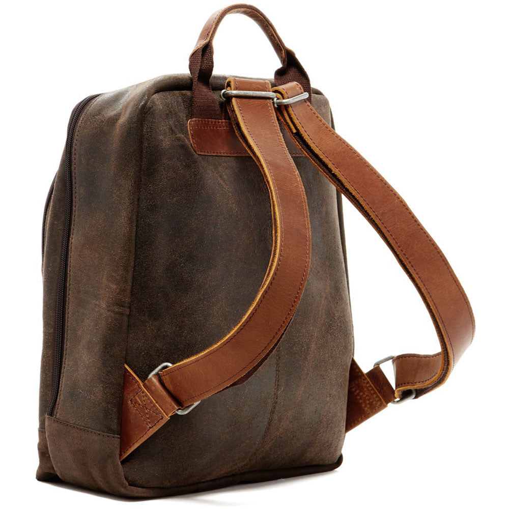 Dakota Laptop Backpack #RS516 Brown Front Side
