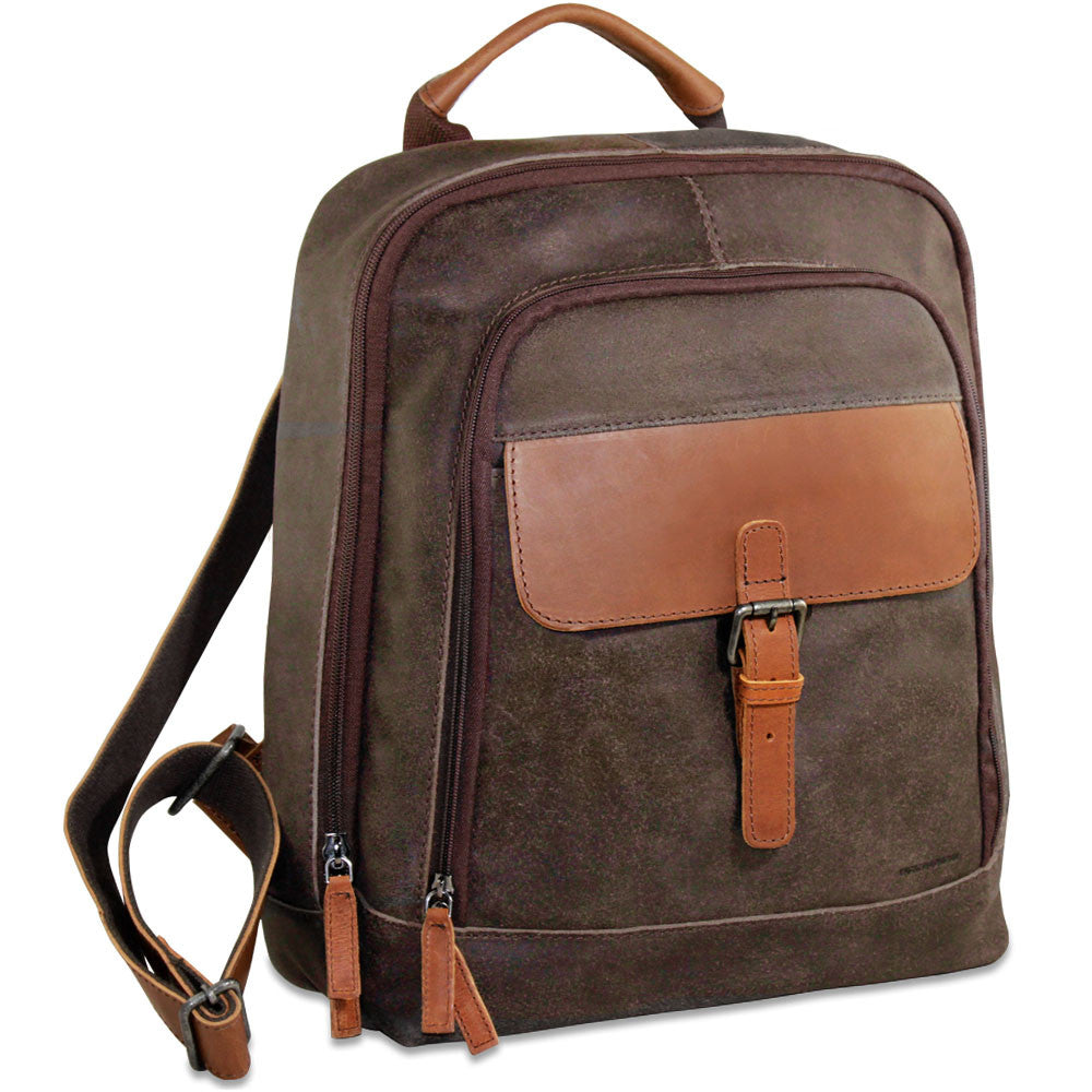 Dakota Laptop Backpack #RS516 Blue Front Side