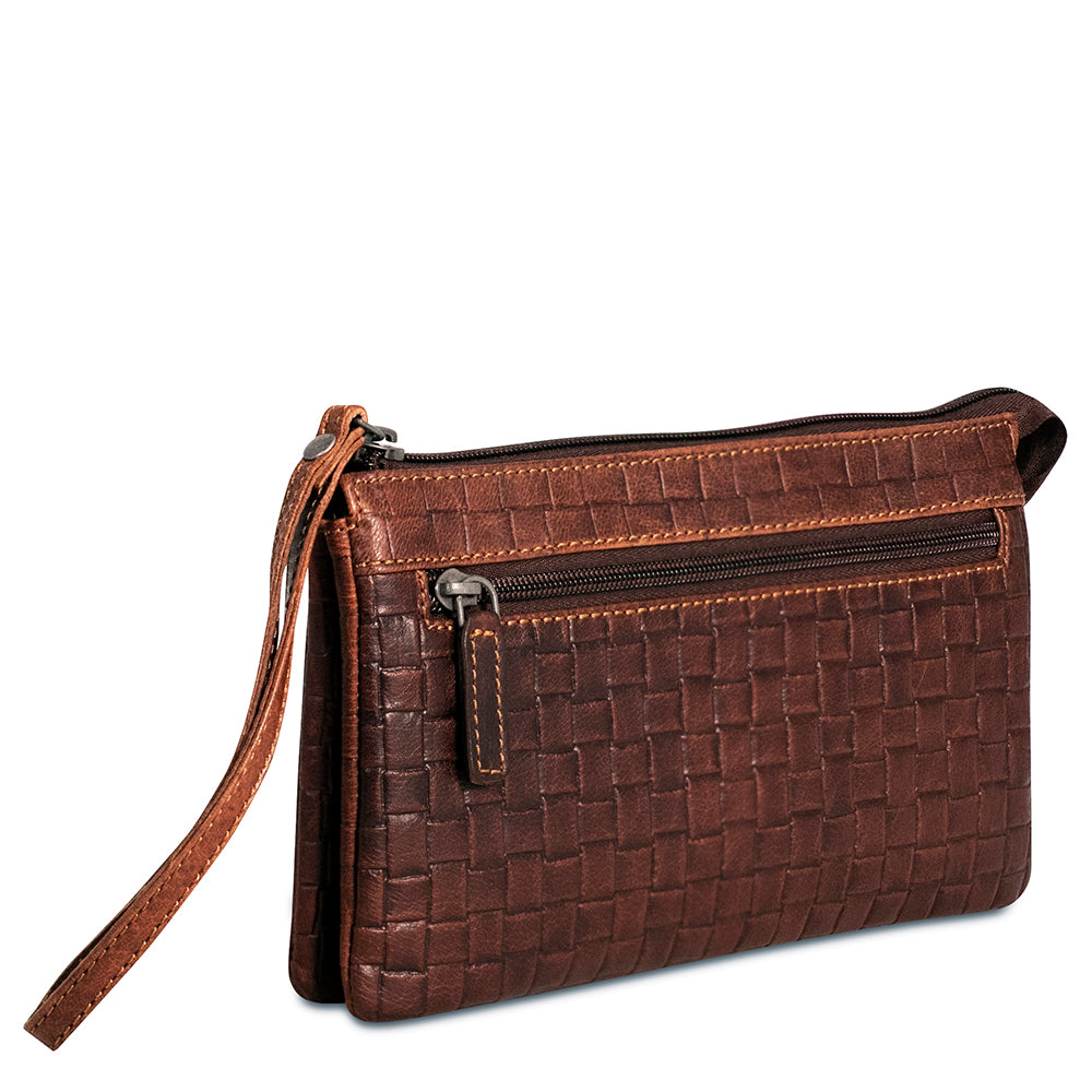 Voyager Woven Zippered Wristlet Clutch #WF723