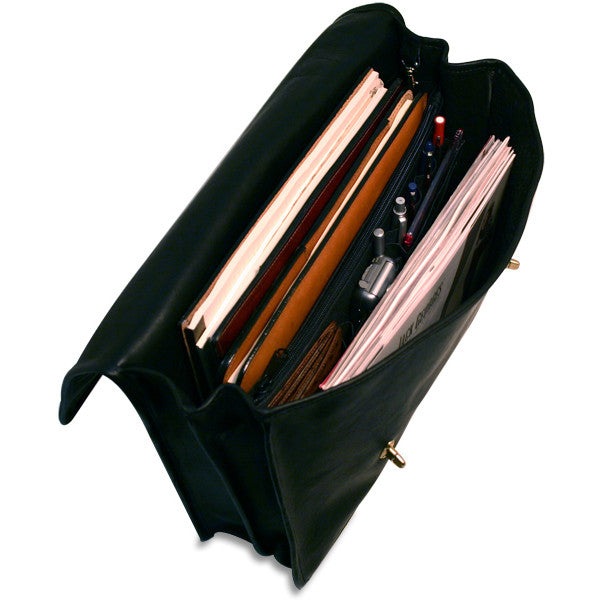 University Professional Leather Briefcase #2456