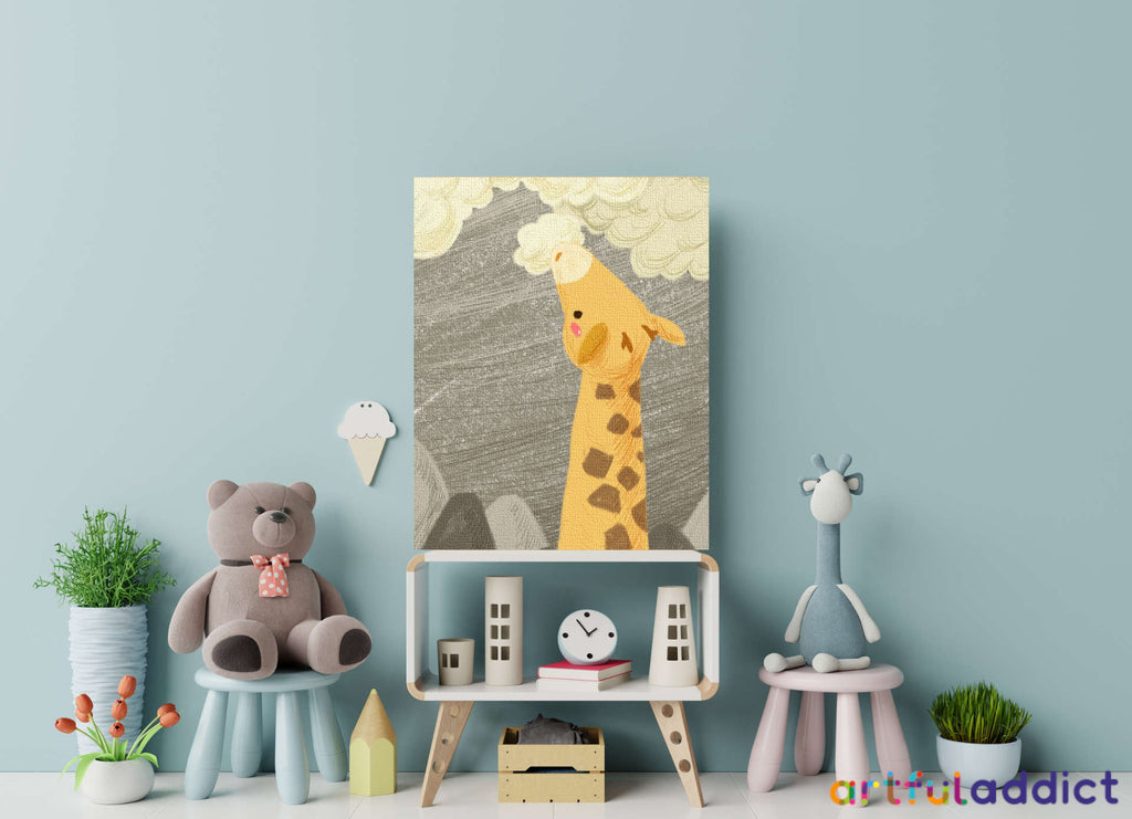 Cloud Eater Giraffe Paint By Numbers Kit