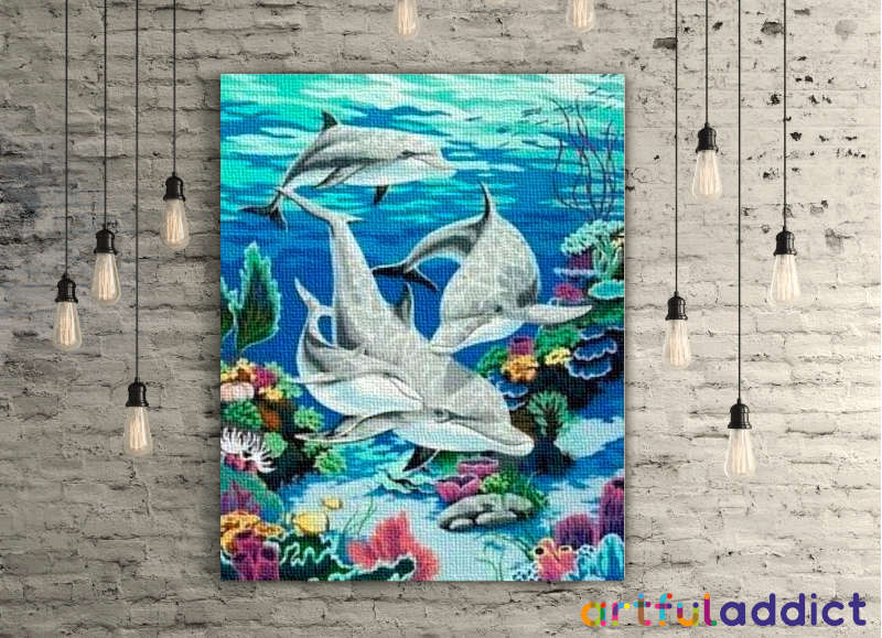 Dolphin Family - Artful Addict Paint By Numbers Kits