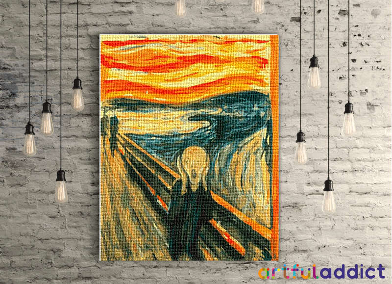 Edvard Munch The Scream - Artful Addict Paint By Numbers Kits