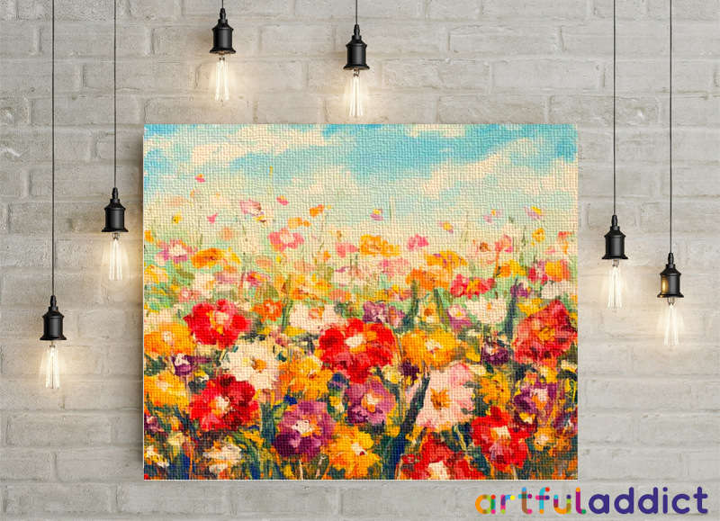 Floral Fields - Artful Addict Paint By Numbers Kits