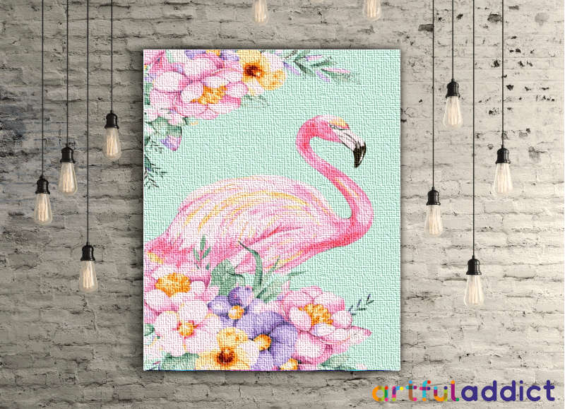Floral Flamingo - Artful Addict Paint By Numbers Kits