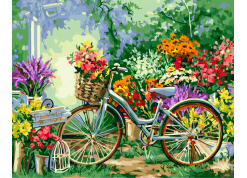 Garden Bicycle - Artful Addict Paint By Numbers Kits