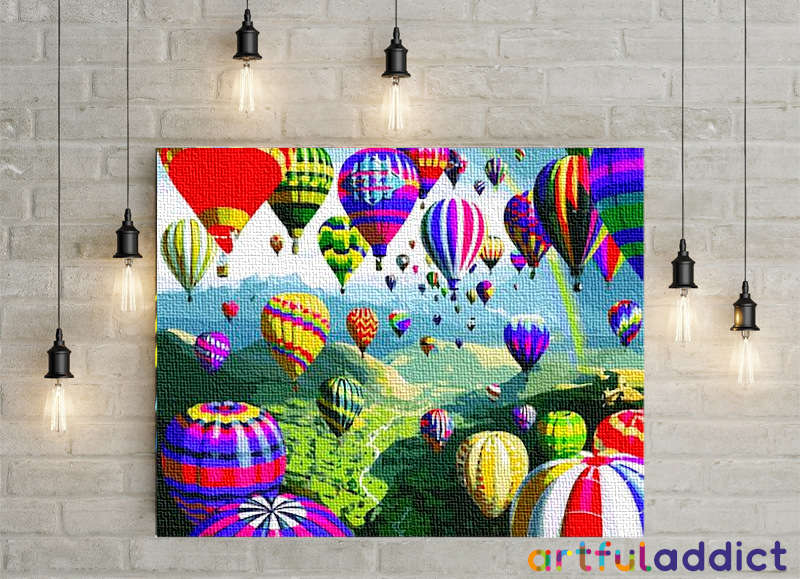 Hot Air Balloons - Artful Addict Paint By Numbers Kits