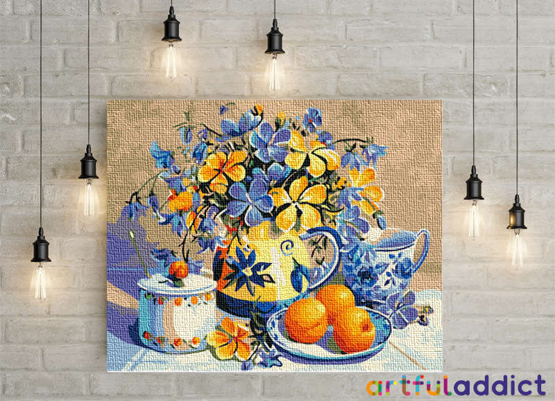 Pansies and Oranges - Artful Addict Paint By Numbers Kits