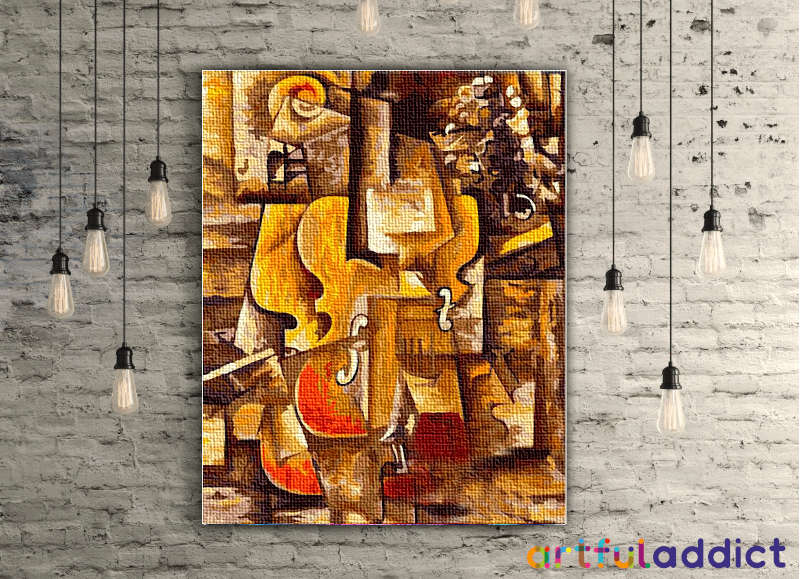 Picasso Violin and Grapes - Artful Addict Paint By Numbers Kits