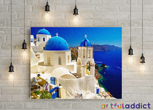 Santorini - Artful Addict Paint By Numbers Kits
