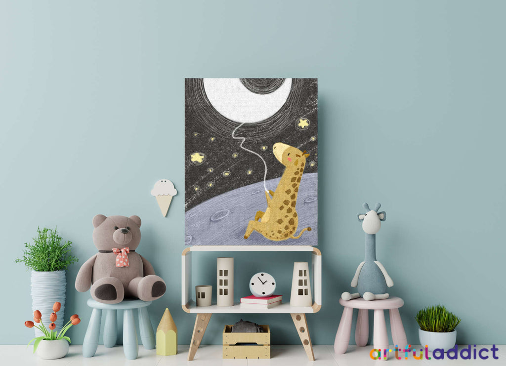 Space Fishing Giraffe Paint By Numbers Kit