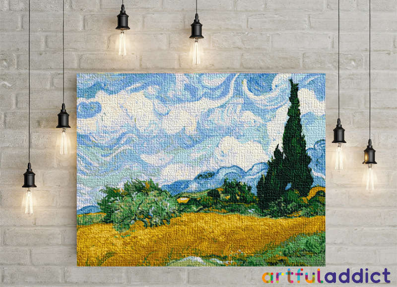 Van Gogh Wheat Field With Cypresses - Artful Addict Paint By Numbers Kits