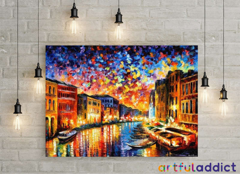 Afremov Venice Grand Canal - Artful Addict Paint By Numbers Kits