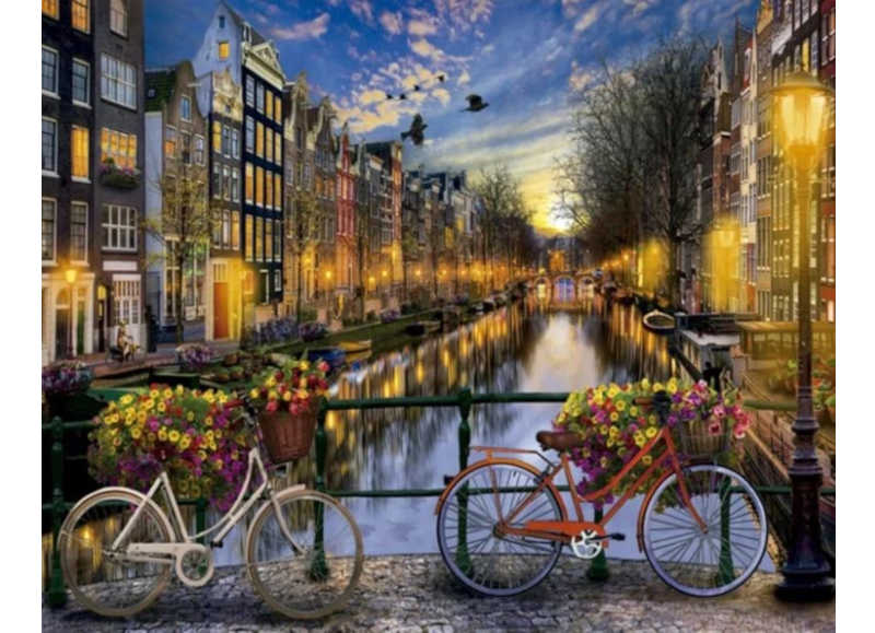 Bicycles in Amsterdam - Artful Addict Paint By Numbers Kits