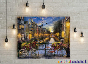 Bicycles in Amsterdam - Artful Addict Paint By Numbers