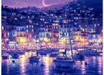 Boats And Evening City Lights - Artful Addict Paint By Numbers Kits