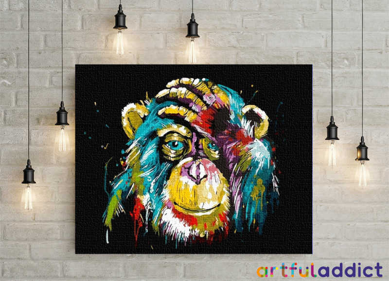 Charming Chimpanzee - Artful Addict Paint By Numbers