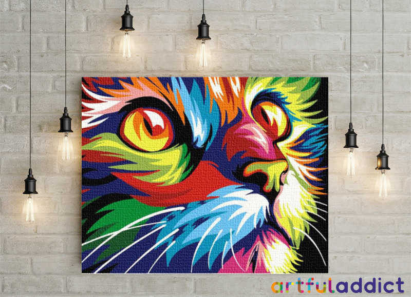 Curious Cat - Artful Addict Paint By Numbers