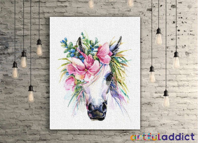 Floral Unicorn - Artful Addict Paint By Numbers Kits