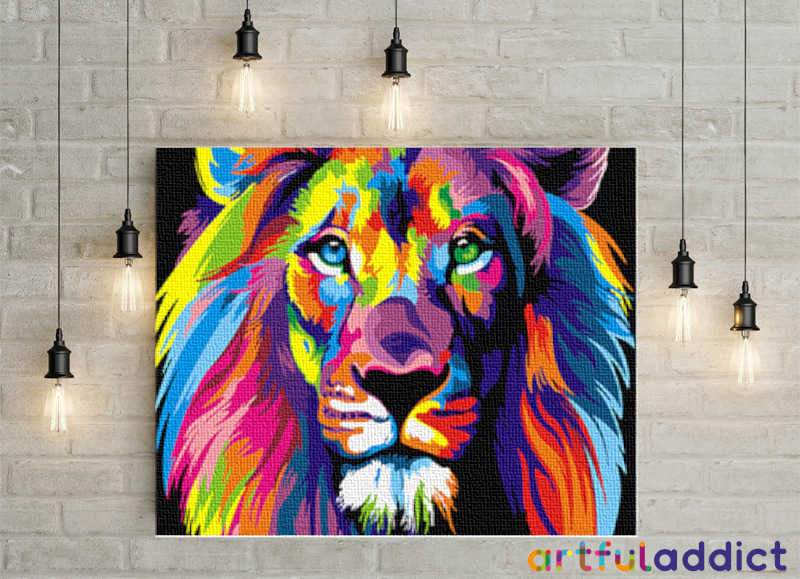 King Of The Jungle - Artful Addict Paint By Numbers