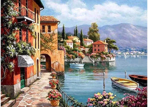 Lakeside Town - Artful Addict Paint By Numbers