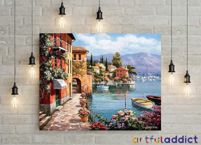 Lakeside Town - Artful Addict Paint By Numbers Kits