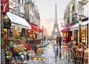Paris City Streets - Artful Addict Paint By Numbers