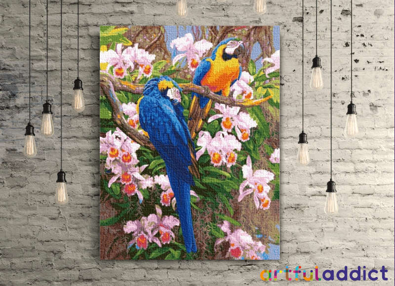 Parrots and Flowers - Artful Addict Paint By Numbers Kits