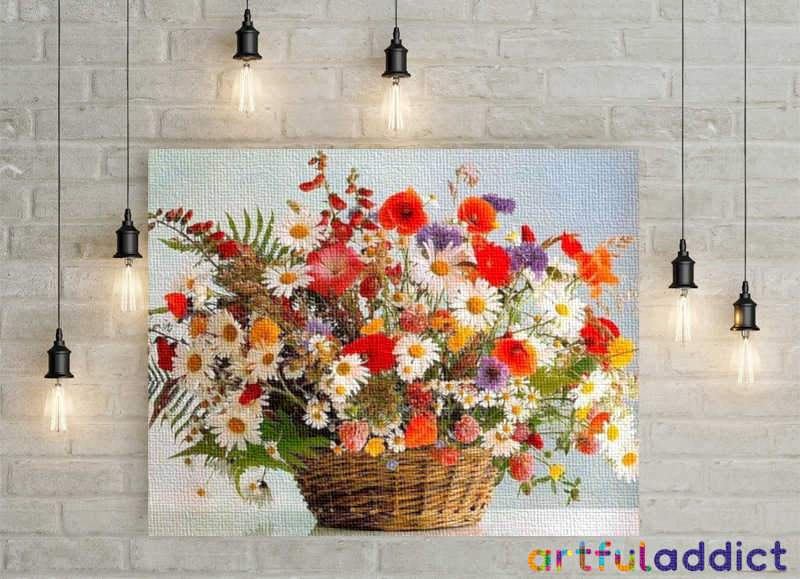 Poppies & Sunflowers - Artful Addict Paint By Numbers